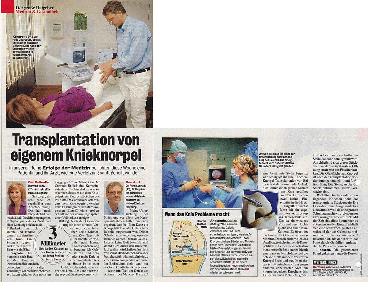 Orthopädische Privatpraxis Köln   Presse